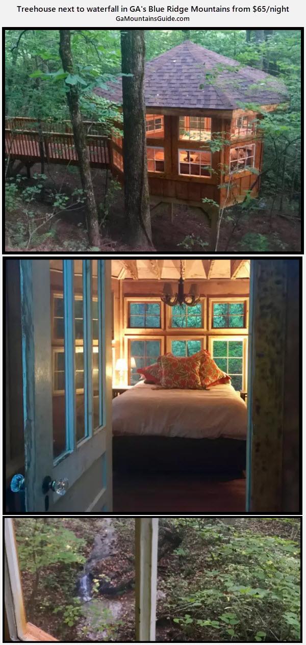 Abbie's Waterfall Treehouse - GaMountainsGuide.com
