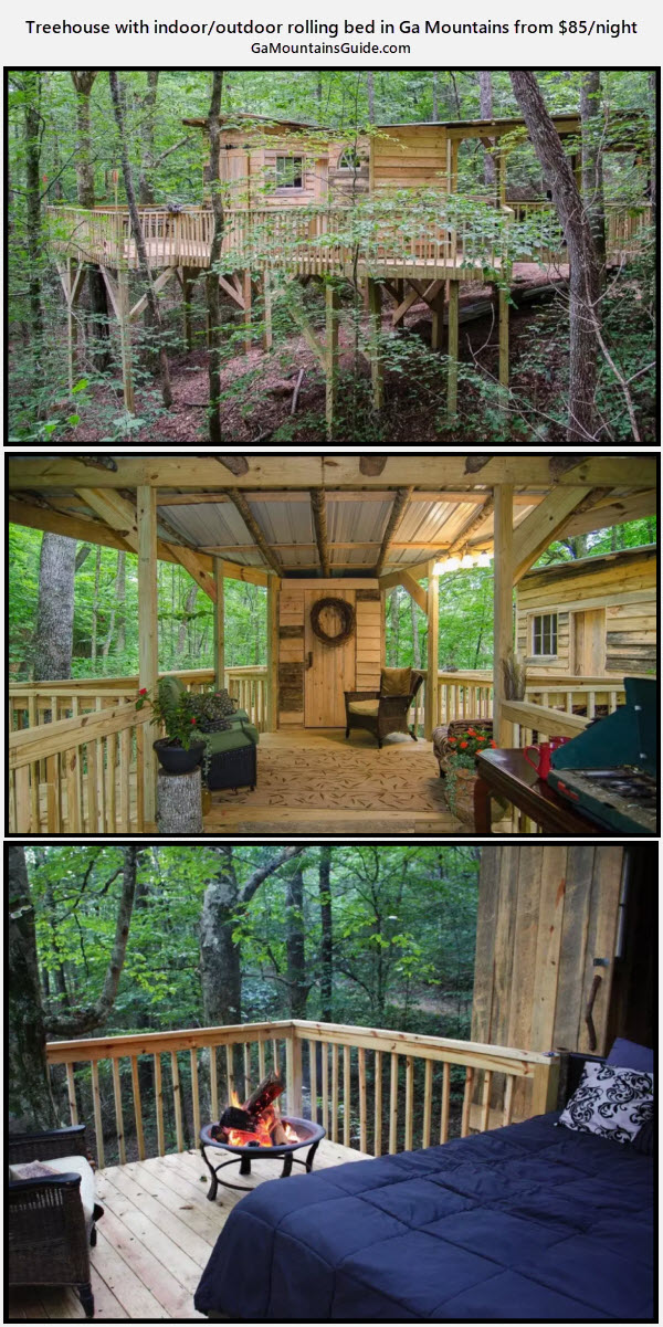 Double Spring Treehouse - GaMountainsGuide.com