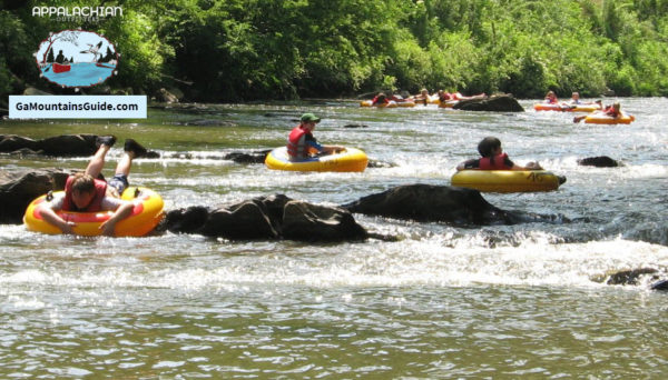 Appalachian Outfitters Tubing on the Chestatee River in the Georgia Mountains