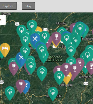 Georgia Mountains Attraction Map