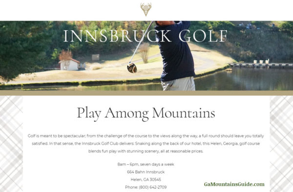 Innsbruck Golf at Valhalla Resort Hotel, Helen, GA