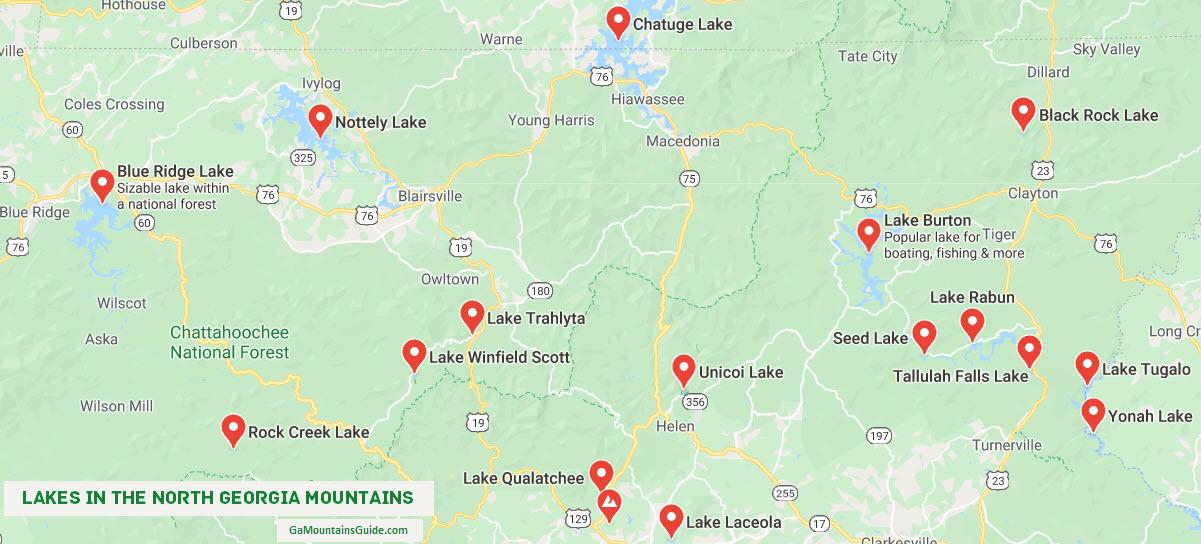 Map-Lakes-North-Georgia-Mountains