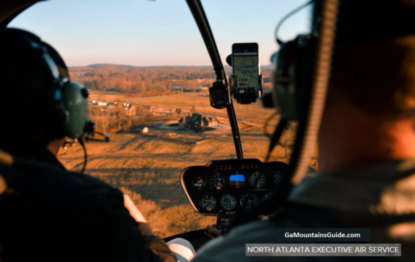 North Atlanta Executive Air Service Helicopter Rides in the Ga Mountains