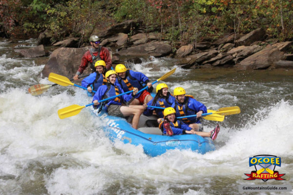 Rafting on the Ocoee River in the Georgia Mountains