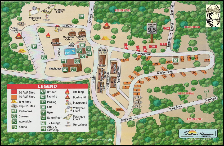 Serendipity Park Map - GaMountainsGuide.com