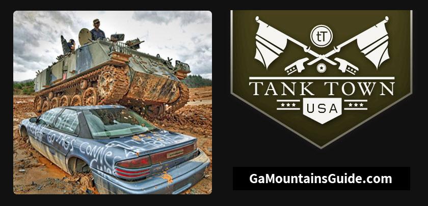 Tank-Town-USA-Georgia-Mountains-Drive-Tank-Crush-Car