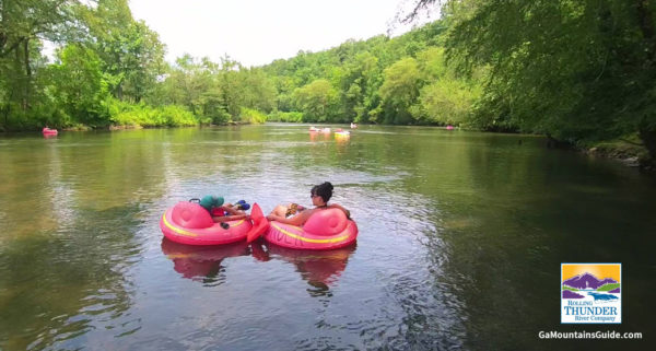 Tubing on the Toccoa River with Rolling Thunder River Company in the Ga Mountains