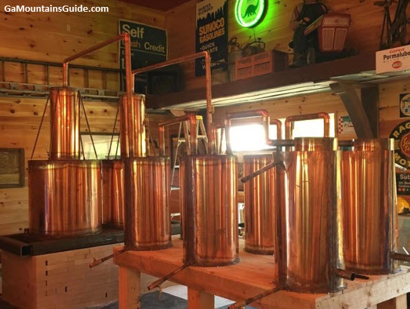 Grandaddy Mimms Moonshine Distillery Copper Kettles