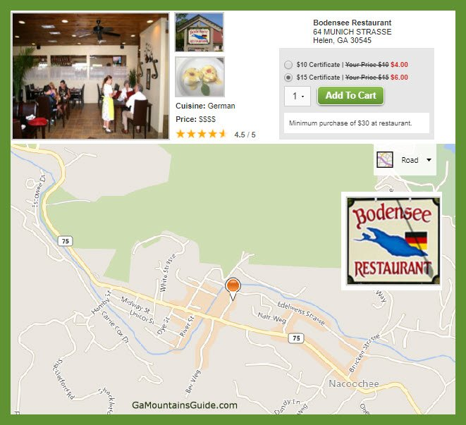 Dining Discounts in the Ga Mountains | GaMountainsGuide.com