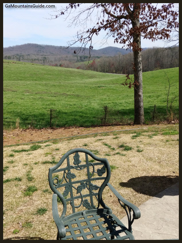 Chateau Meichtry Patio View - GaMountainsGuide