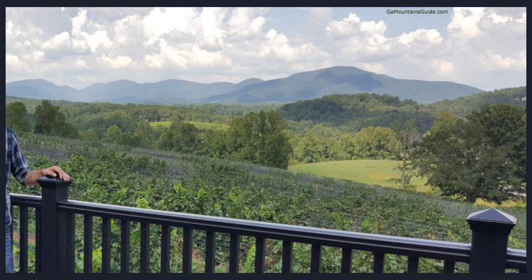 Kaya Vineyards & Winery View from Deck - GaMountainsGuide