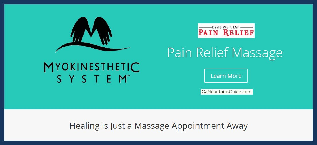 Pain Relief Massage in Blairsville GA - GaMountainsGuide.com