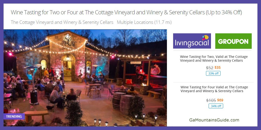 Tastings at Cottage-Serenity