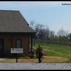 Tesla charging station at Kaya Vineyards - GaMountainsGuide.com