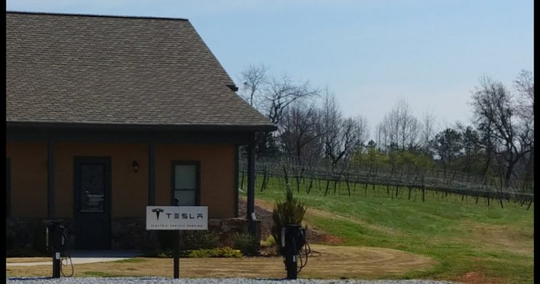 Tesla charging station at Kaya Vineyards - GaMountainsGuide.com