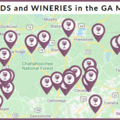 Map of Vineyards & Wineries in North Georgia Mountains