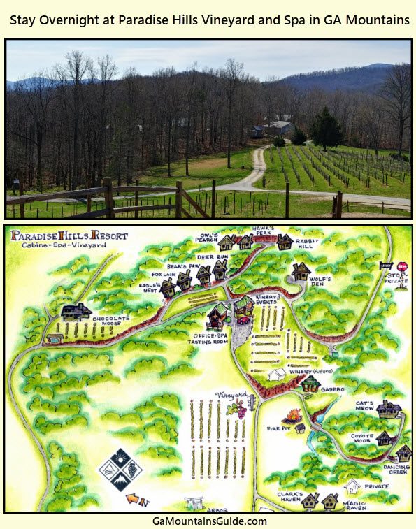 Paradise Hills Cabins, Winery, & Spa - GaMountainsGuide.com