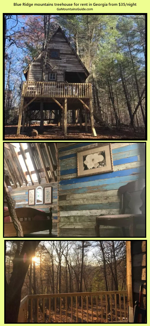 Treehouse for rent in Ga Mountains - The Serenitree House - GaMountainsGuide.com