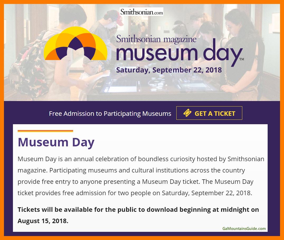 Smithsonian Free Museum Day - GaMountainsGuide.com