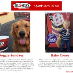 Bruster's Ice Cream FREE Baby Cone & Free Doggie Sundae