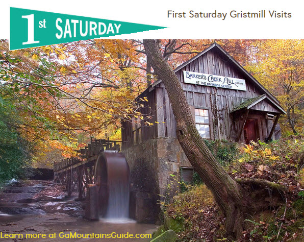 Barker's Creek Mill Free First Saturdays in Rabun Gap GA