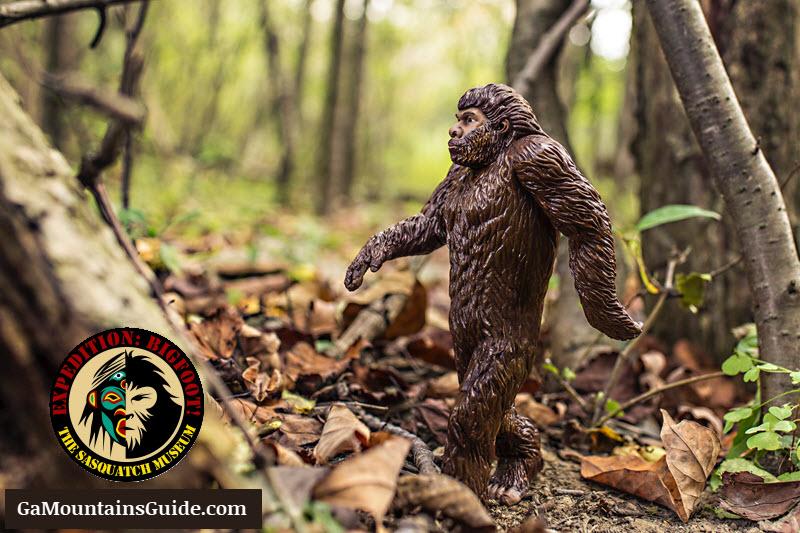Bigfoot-Walking-Through-Woods-Ga-Mountains