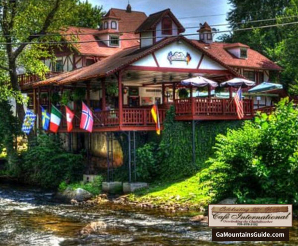 Cafe International Riverfront Restaurant in the Georgia Mountains