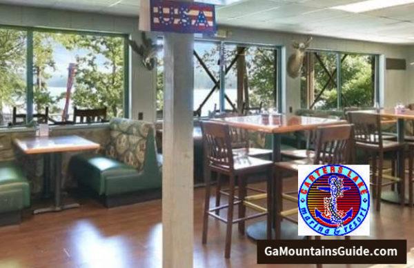 Carter's Lake Marina & Resort Waterfront Restaurant in the Ga Mountains