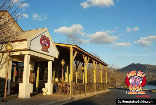 Hawg Wild BBQ Lakefront Restaurant in the Georgia Mountains