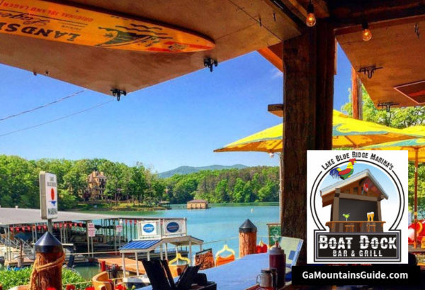 Lake Blue Ridge Marina's Boat Dock Bar & Grill Waterfront Dining in Ga Mountains