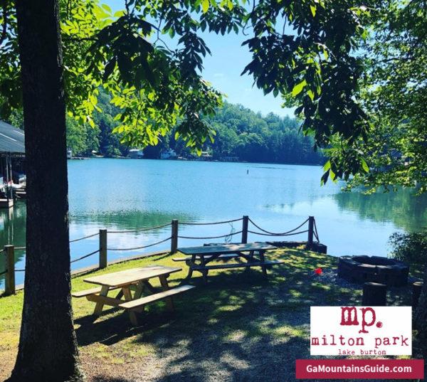 Milton Park Lake Burton Waterfront Restaurant in the Georgia Mountains