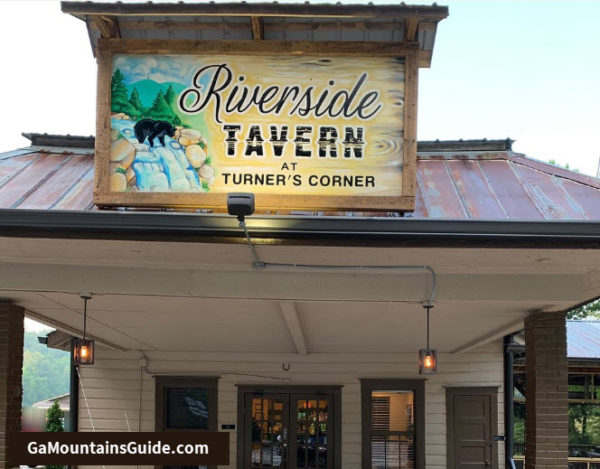 Riverside Tavern at Turner's Corner Waterfront Restaurant in the Georgia Mountains