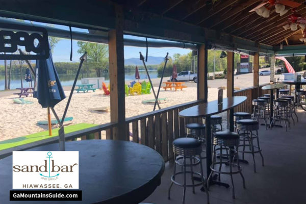 Sand Bar and Grille by Lake Chatuge in the Georgia Mountains