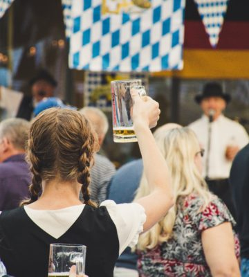 Oktoberfest fun includes beer, music, and traditional attire