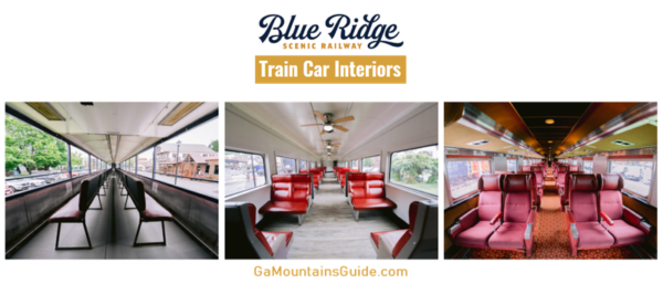 Blue Ridge Scenic Railway Train Car Interiors