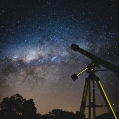 Milky Way, Telescope, and Night Sky