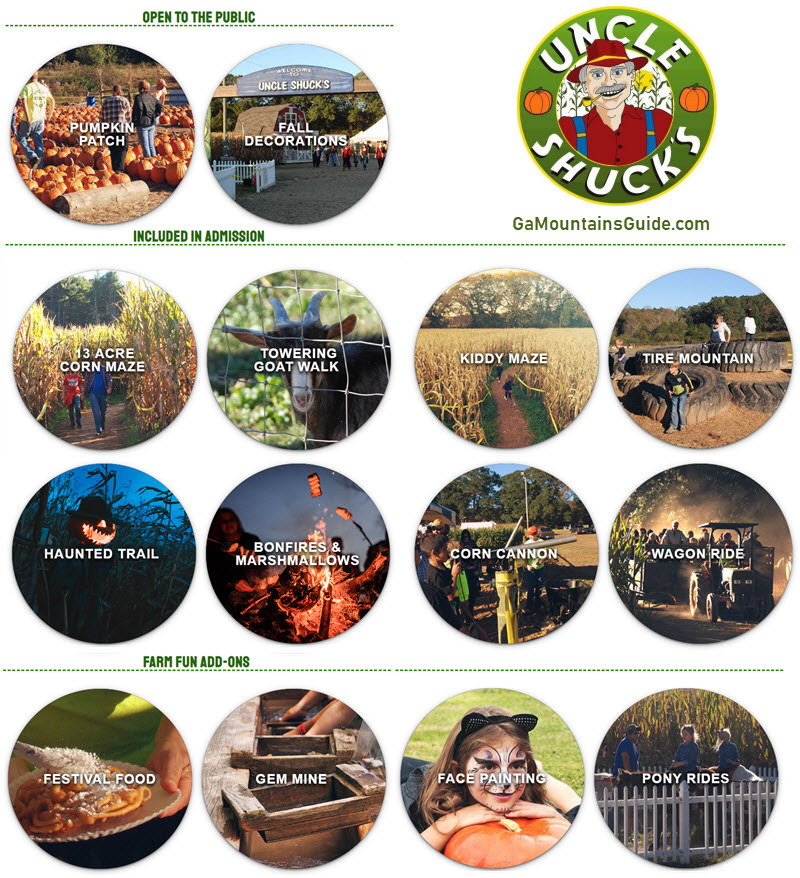 Uncle Shuck's Corn Maze & Haunted Corn Maze in North Georgia