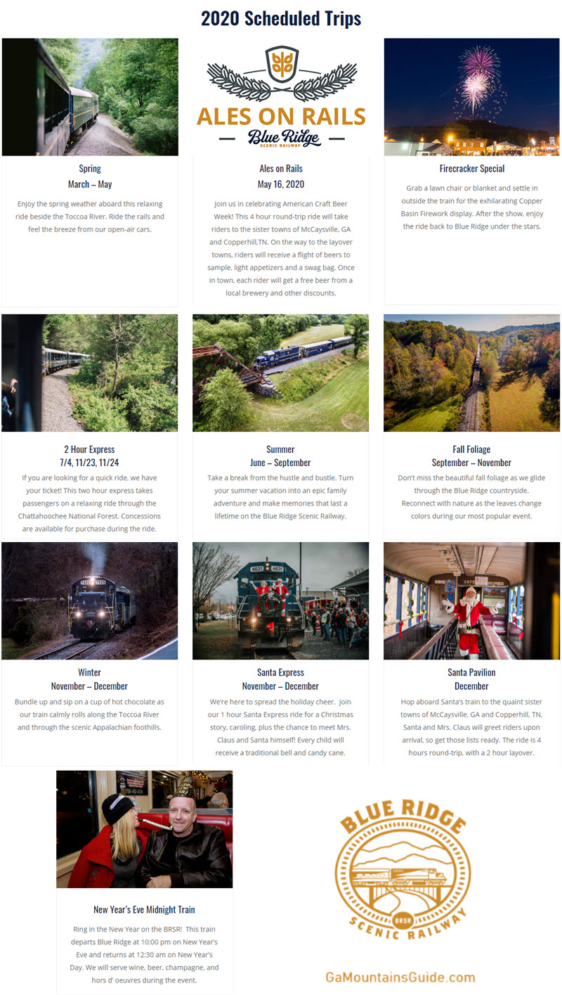 Blue Ridge Scenic Railway 2020