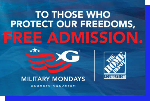 Free Admission to Georgia Aquarium on Military Mondays