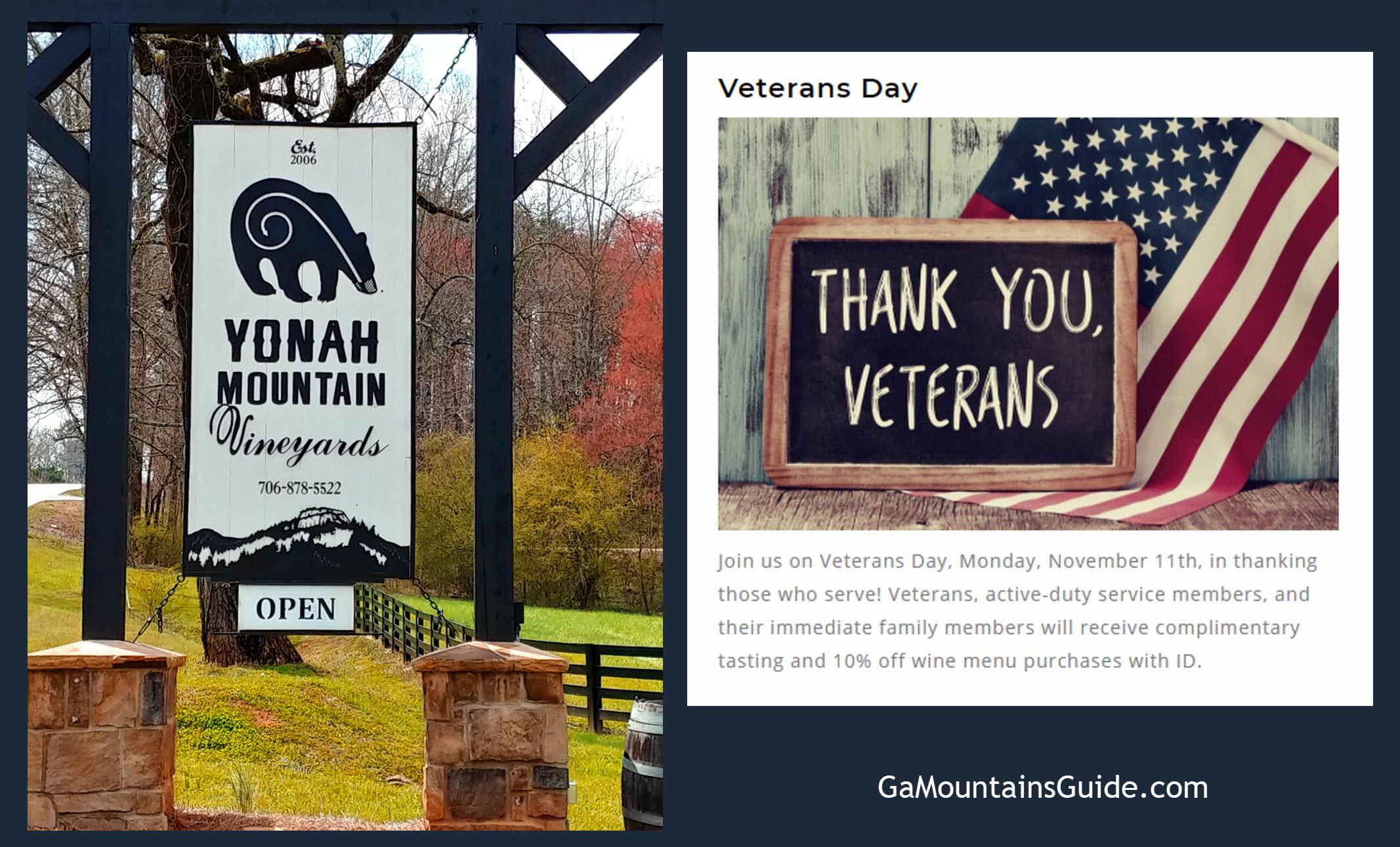 Veterans-Day-Yonah-Mountain-Free-Wine-Tasting