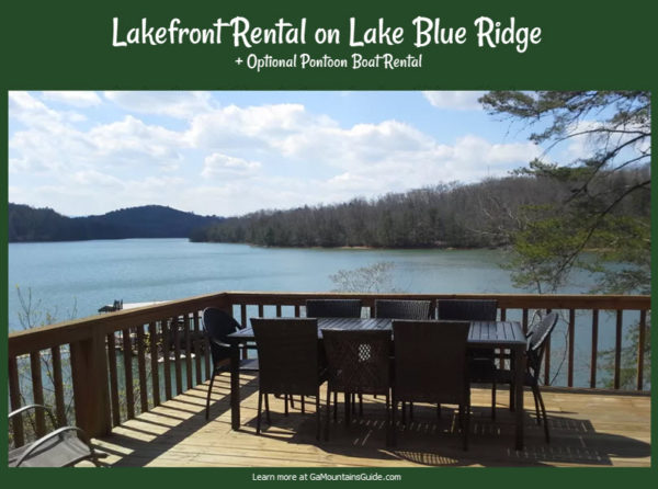 Lakefront Rental with Optional Pontoon Boat on Lake Blue Ridge