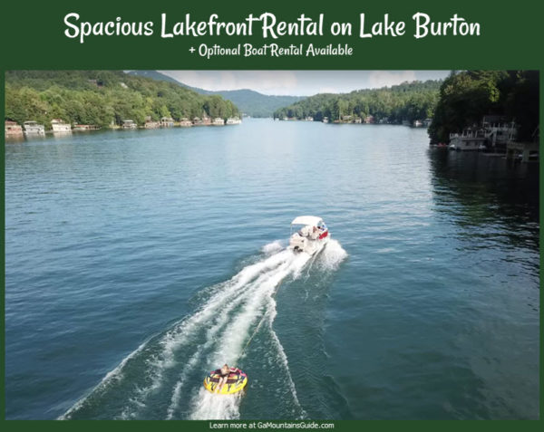 Lake Burton Lakefront Rental with Optional Boat Rental