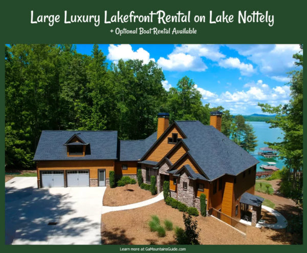 Large Luxury Lakefront Rental on Lake Nottely with Optional Boat Rental