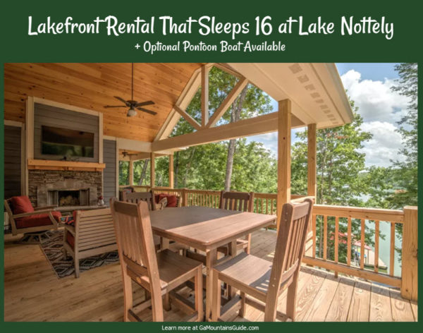 Lake Nottely Lakefront Rental with Optional Pontoon Boat
