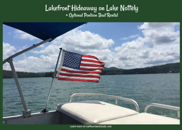 Lake Nottely Waterfront Rental with Optional Pontoon Boat Rental