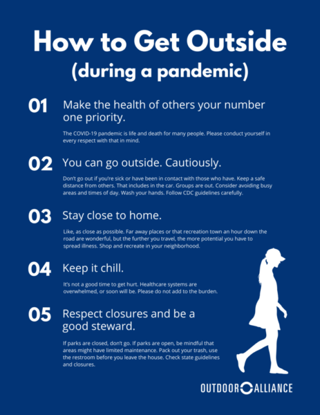Guidelines to Going Outside During COVID-19 Coronavirus Pandemic