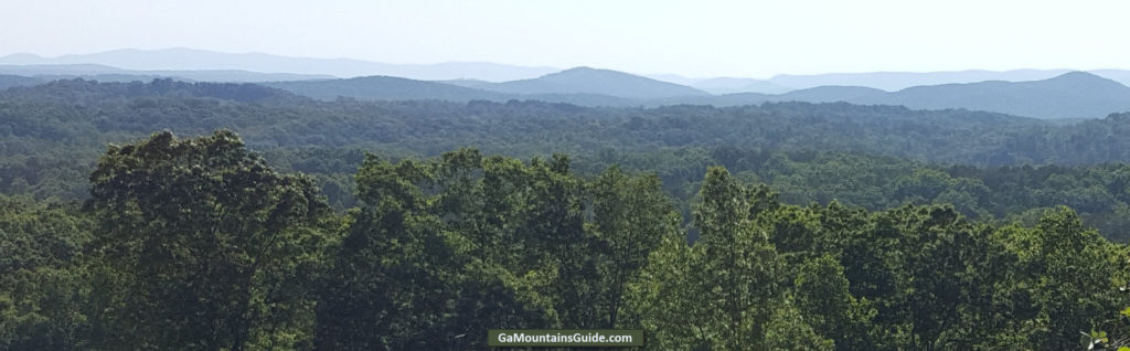 View of Blue Ridge Mountains from Wolf Mountain Vineyards in Dahlonega, GA