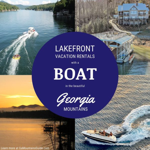 Lakefront Vacation Rentals with Boats in the Georgia Mountains