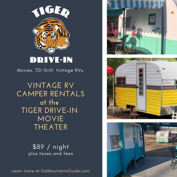 Tiger Drive-In Vintage Camper RV Rentals #TigerDriveIn