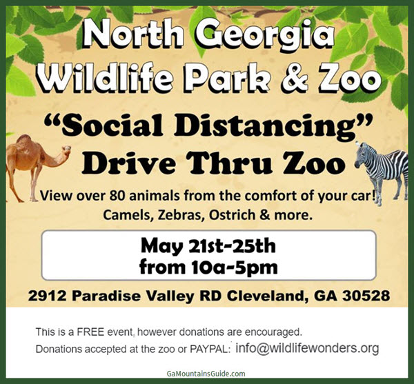 North Georgia Zoo Drive Through Zoo 2020